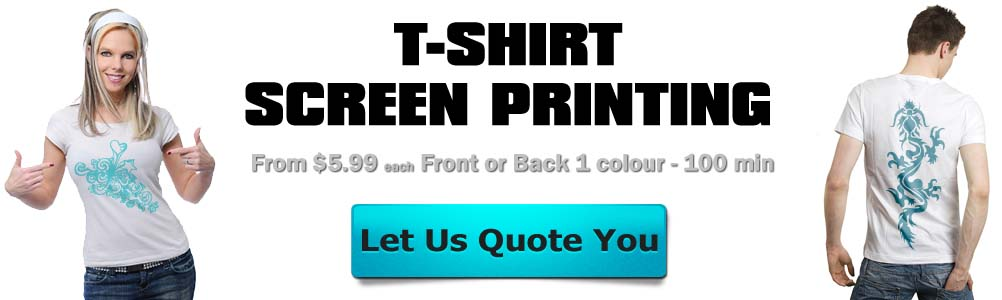 100 white t-shirts screen printed $5.99 ea