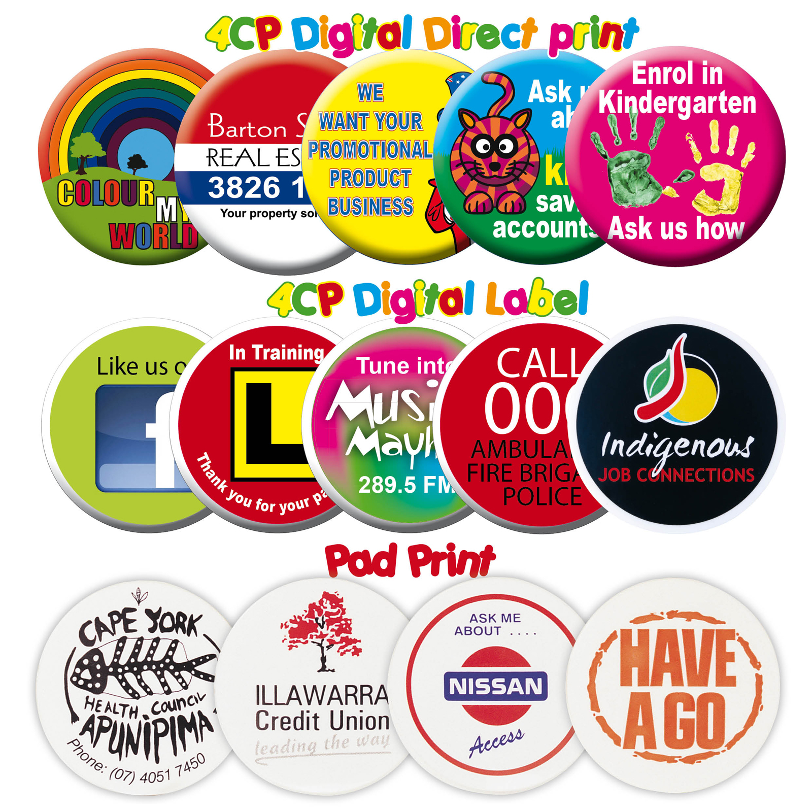 Promotional Button Badge Printing Options