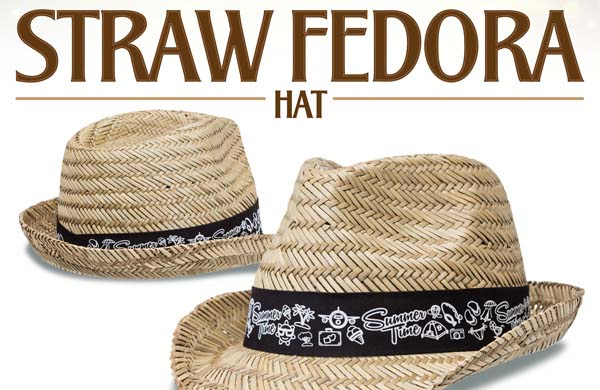 Introducing The All New Classic Fedora Shaped Straw Hat