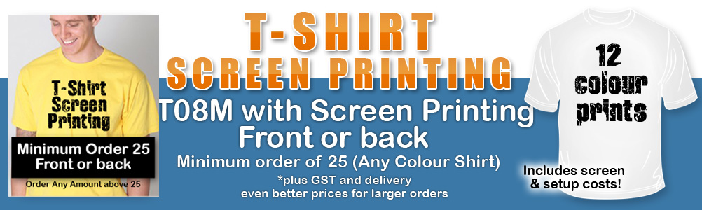 T08M T-Shirt with Screen Printing