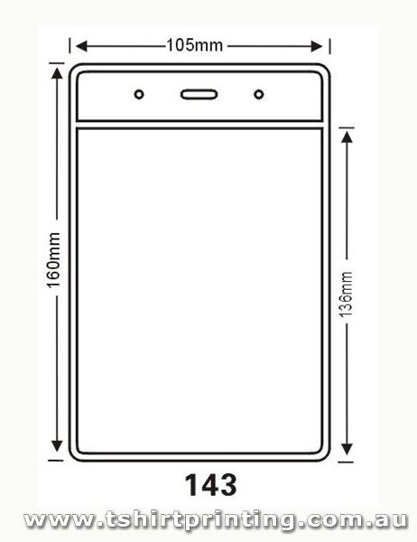 105mmx160mm Clear PVC Card Holder