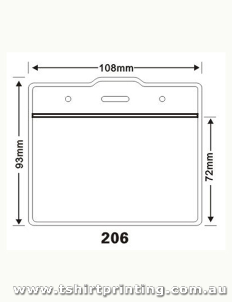 108mmx93mm Clear PVC Card Holder