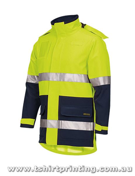 W89J Johnny Bobbin Hi Vis (D+N) Soft Shell Industry Jacket