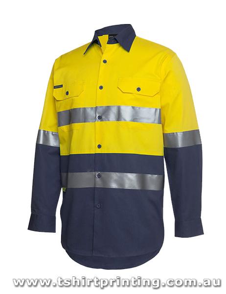 W96LP Johnny Bobbin Hi Vis (D+N) L/S 190G Shirt