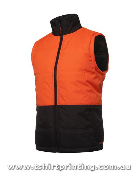 W82V Johnny Bobbin Hi Vis Puffer Vest