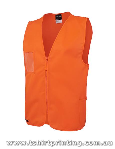 W81V Johnny Bobbin Hi Vis Zip Safety Vest