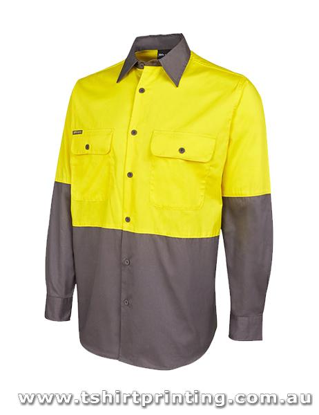 W90LP Johnny Bobbin Hi Vis L/S 150G Shirt