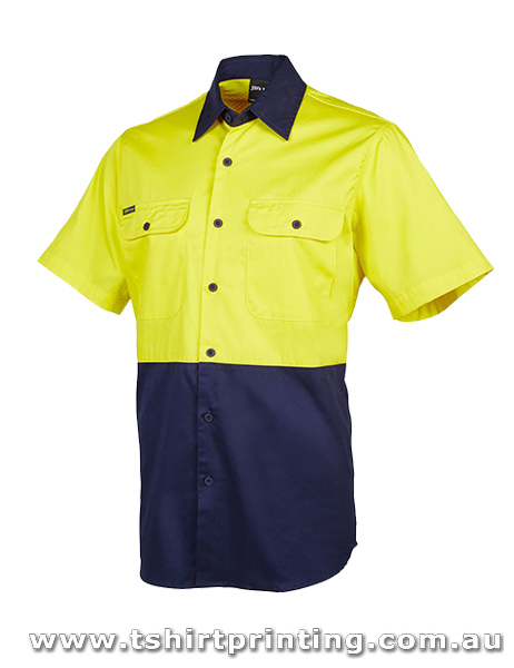 W92P Johnny Bobbin Hi Vis S/S 150G Shirt