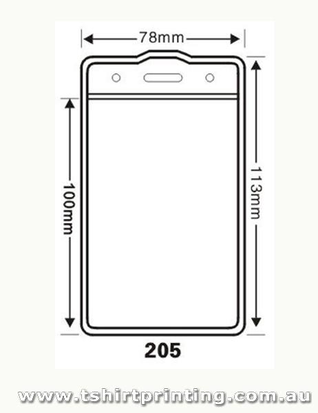 78mmx113mm Clear PVC Card Holder