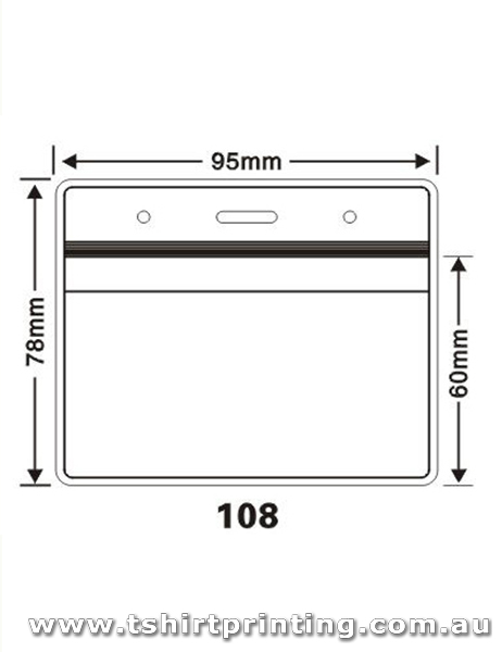 95mm x78mm Clear PVC Card Holder