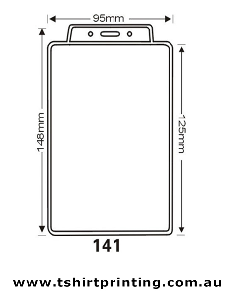 95mmx148mm  Clear PVC Card Holder