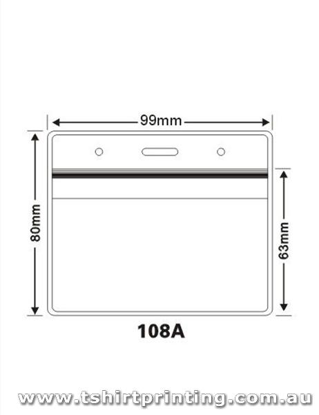 99mmx80mm Clear PVC Card Holder