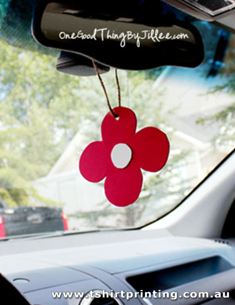 AF12 Red Flower Air Freshener