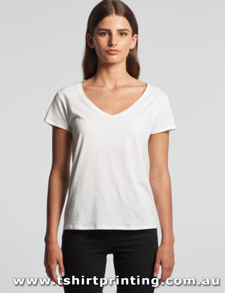 T117W ASColour Womens V Neck La Brea Tee