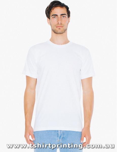T120M American Apparel Fine Jersey Crewneck T-Shirt