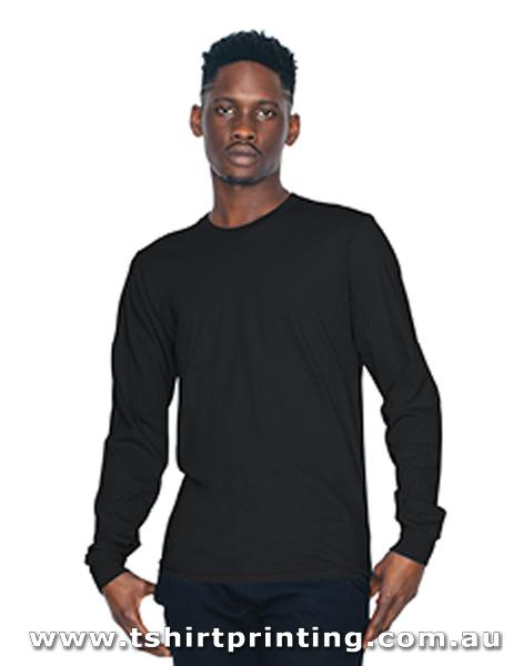 T130LM American Apparel  Unisex Fine Jersey Long Sleeve T-Shirt
