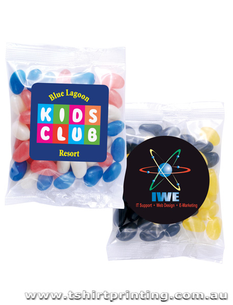 Corporate Colour Mini Jelly Beans in 60 Gram Cello Bag