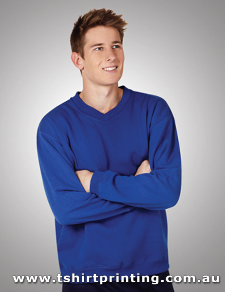 F02VM Traditional VNeck Sloppy Joe Fleece Sweatshirt