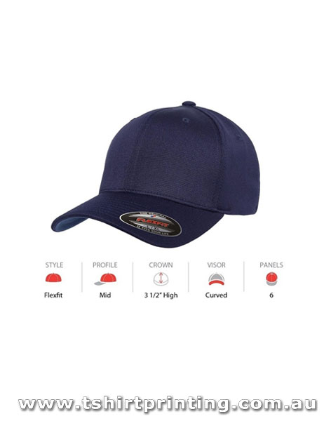 FlexFit Cool & Dry Sports Hard Buckram Cap