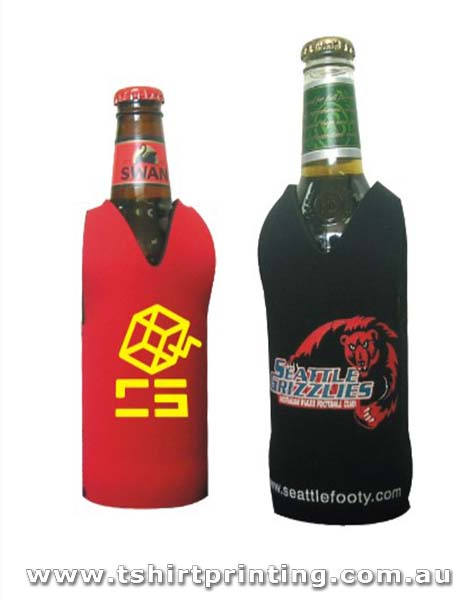 Footy Style Bottle Stubby Holder