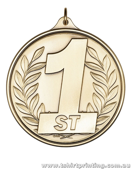 Gold 2D Iron Stamped Sports Medal