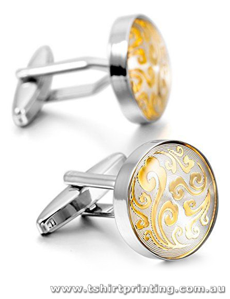 Gold Ornament Design Cuff Links