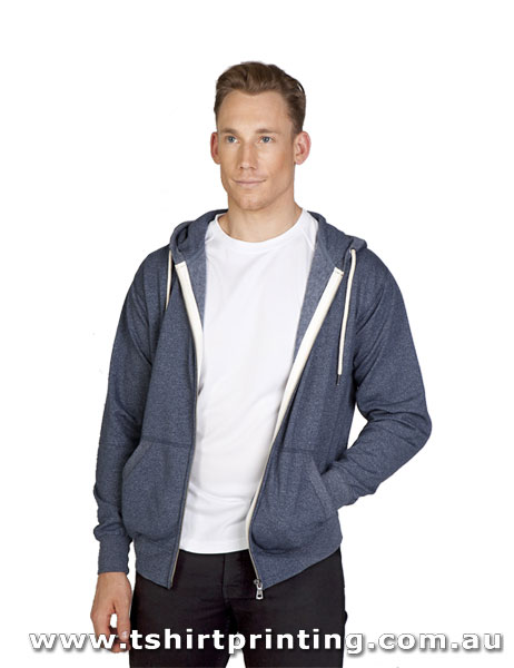 H139M Ramo Mens Light Weight Greatness Heather Zip Hoodie