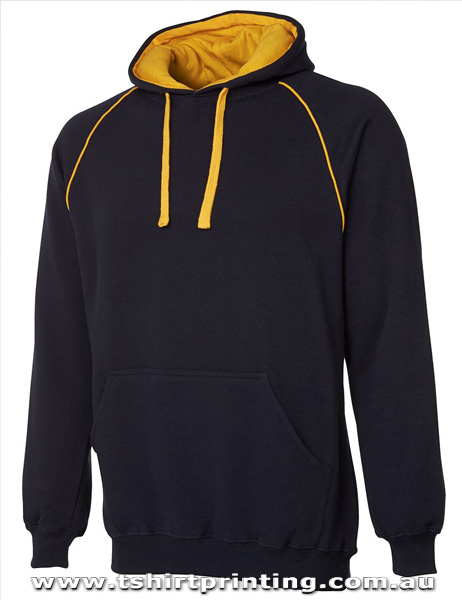 H37M Johnny Bobbin Adults Contrast Fleecy Hoodie