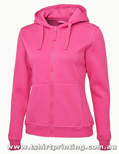 H42W Johnny Bobbin Ladies Full Zip Fleecy Hoodie