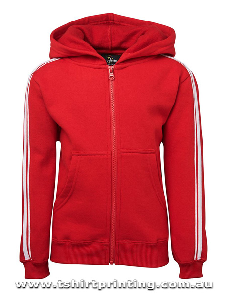 H56K Johnny Bobbin Kids Dual Stripe Full Zip Hoodie