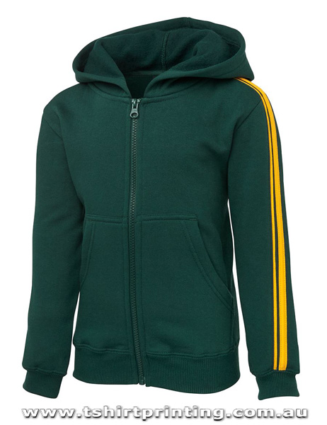 H56M Johnny Bobbin Dual Stripe Men's Full Zip Hoodie
