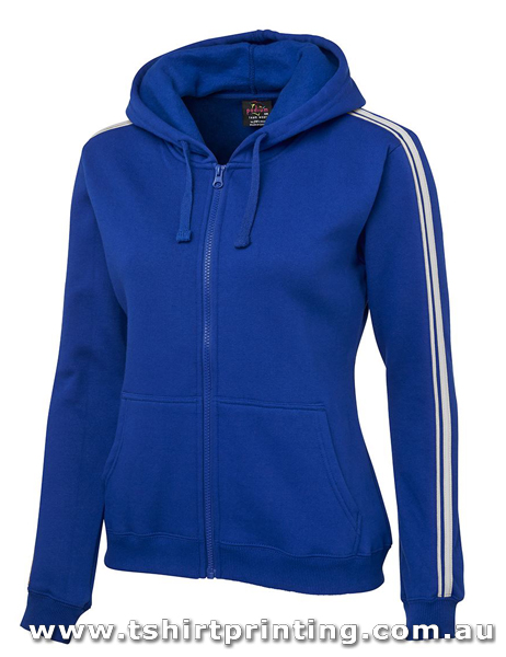 H56W Johnny Bobbin Dual Stripe Ladies Full Zip Hoodie
