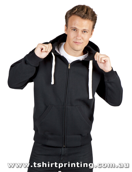 H76M Ramo Mens Brushed Heavy Zip Fleece Hoodie