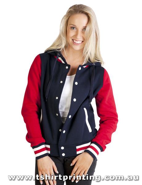 H96W Ramo Womens Varsity Jacket & Hood