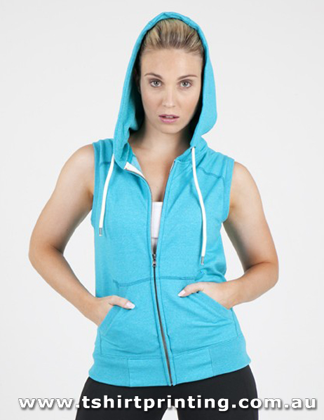 H99W Ramo Ladies/Junior Greatness Sleeveless Zipped Hoodie