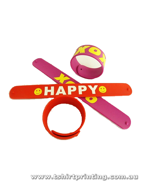 Silicone Xoxo Happy Slap Bands