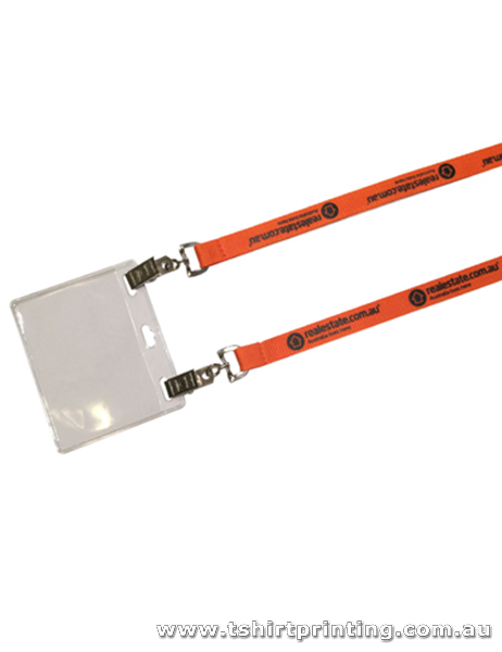 Polyester Ribbed Conference Lanyard