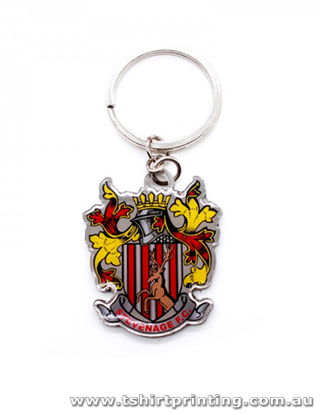 Business Logo Metal Key Ring