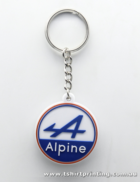 Soft PVC Alpine Key Ring