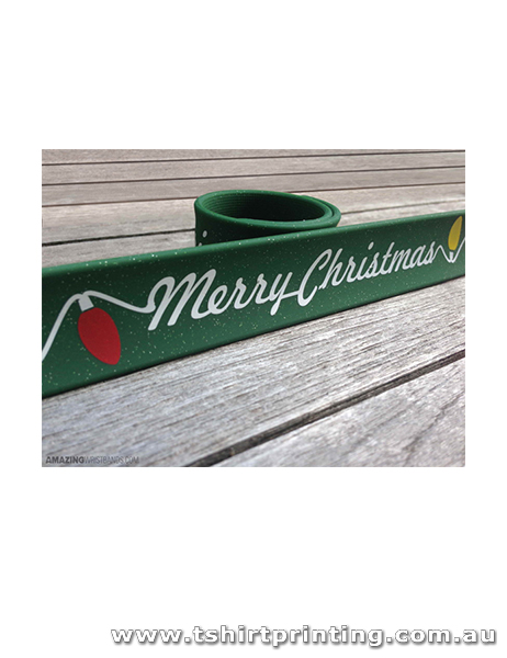 Silicone Christmas Slap Bands