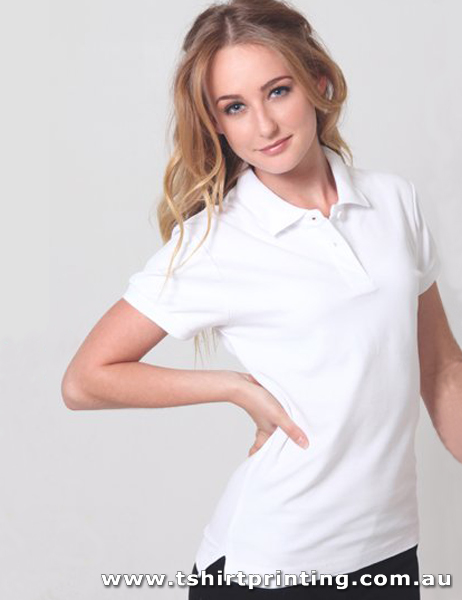 P05W Delta Ladies Cotton Pique Knit Polo