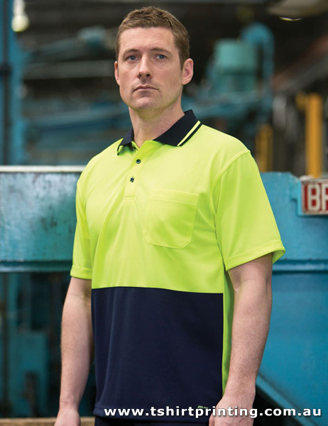 P08M Johnny Bobbin HiVis Trade Polo