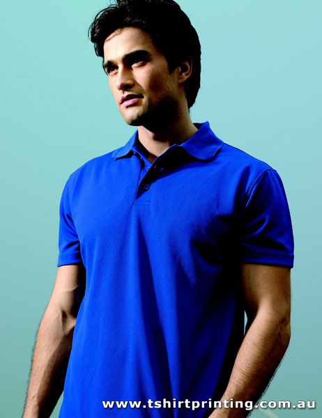 P56M Bocini Men's Polyester Basic Polo