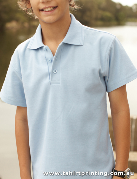 P58K Bocini Kids Basic PolyCotton Polo