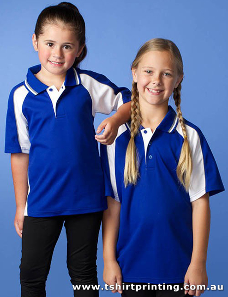 P81K Kid's PolyCotton Panorama Polo