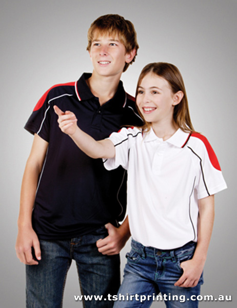P93K Kids Coolfast Shoulder Panel Polo