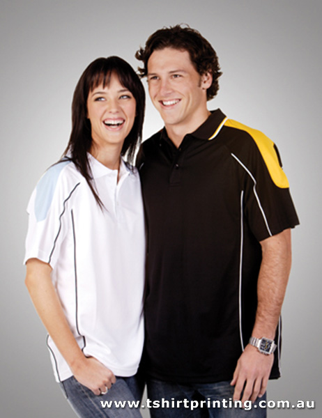 P93M Adults Coolfast Shoulder Panel Polo