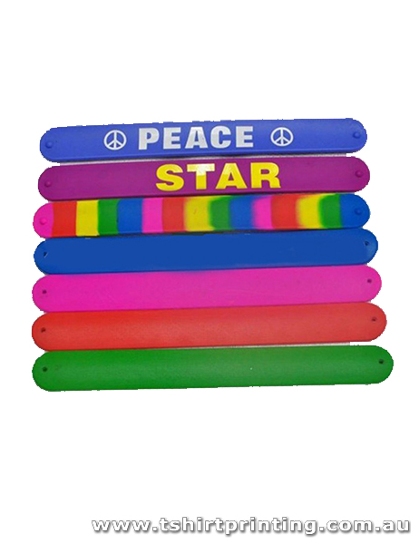 Silicone Rainbow Colored Slap Bands