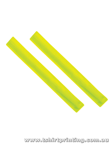 Slap Bands Plain Neon Green-PVC