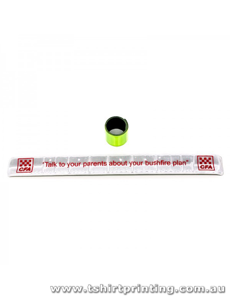 Slap Bands Promo White-PVC
